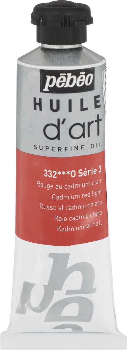 Pebeo Краска масляная Super Fine D'Art №3 цвет 014332 кадмий красный светлый 37 мл -  Краски