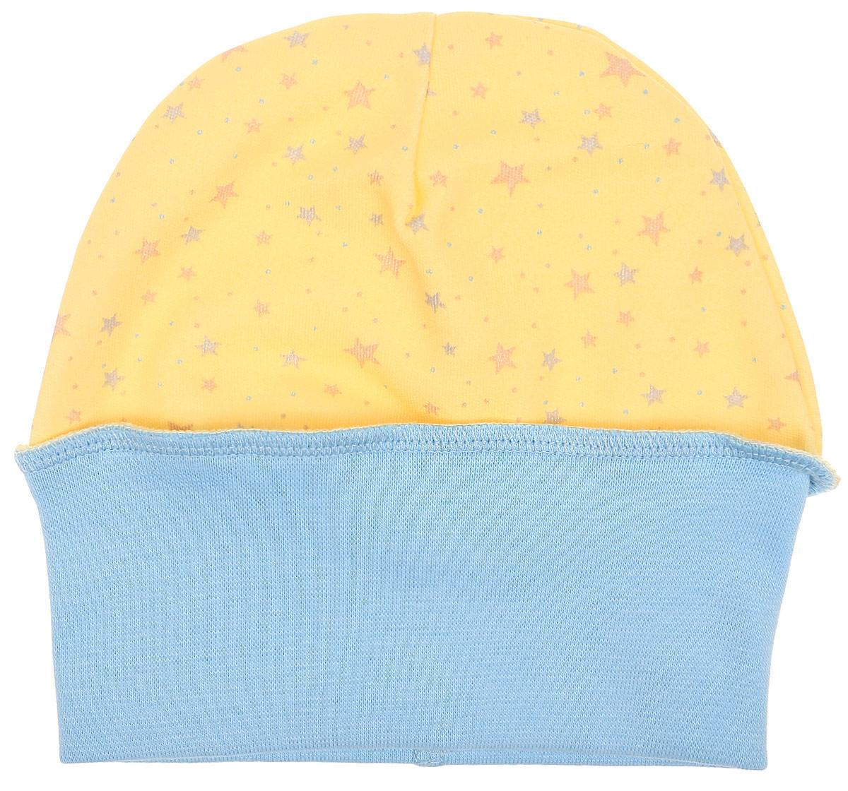 Чепчик детский Luky Child, цвет: желтый. А1-109. Размер 68/74А1-109