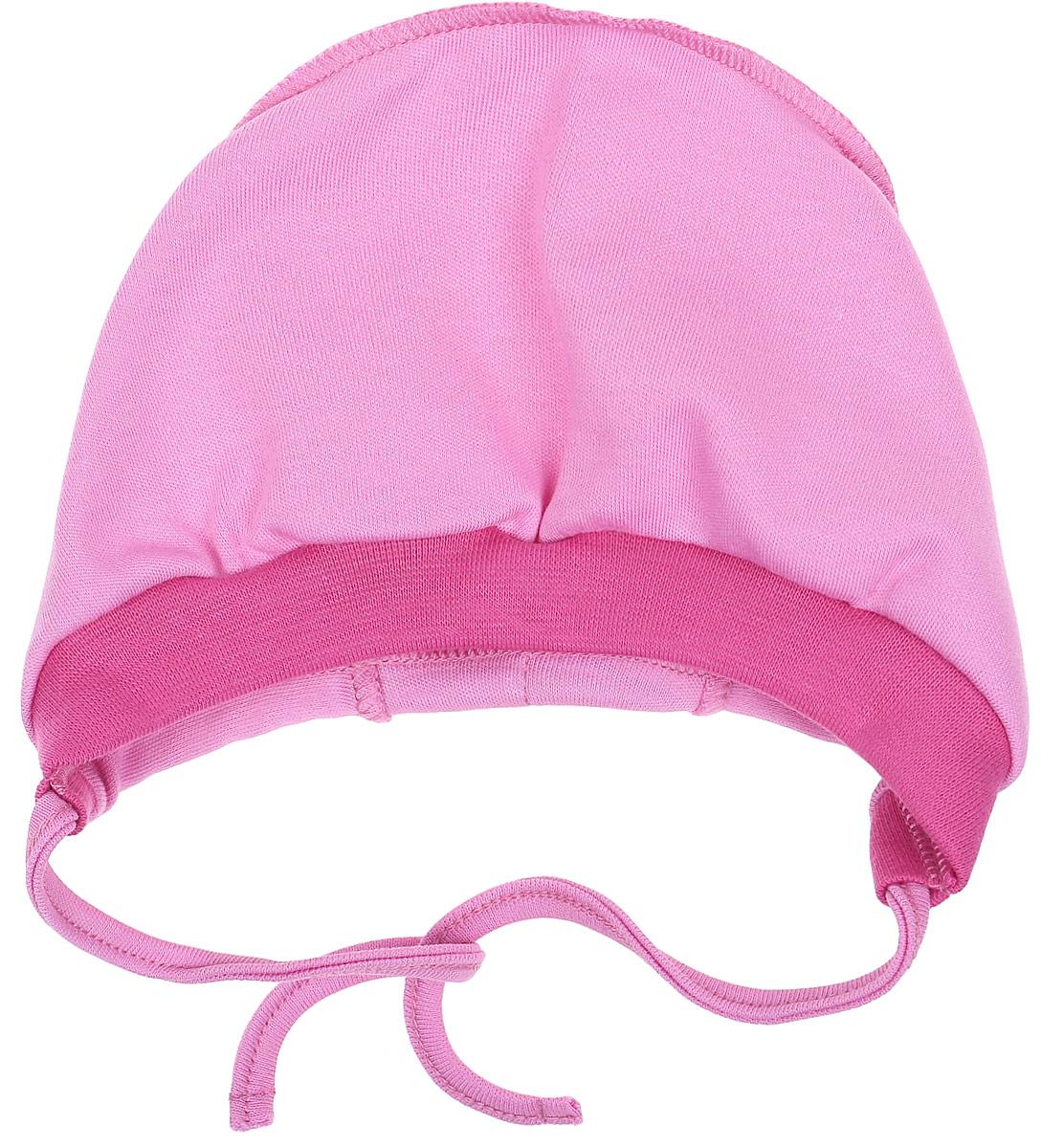 Чепчик детский Luky Child, цвет: розовый. А6-110/розовый. Размер 86/92 штанишки детские luky child цвет розовый бирюзовый а6 111 размер 86 92