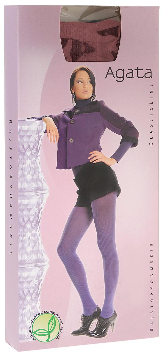 Колготки женские Knittex Agata 120, цвет: бордовый. AGATA. Размер 1AGATAНепрозрачные колготки Agata от Knittex, изготовленные из вискозы, плотностью 120 den с продольным рисунком в рубчик по всей длине ноги. Без шортиков. Плоские швы. Хлопковая ластовица. Классическая высота талии. Широкая комфортная резинка.В размере 5-XL специальная вставка (2 шва). Без пятки.