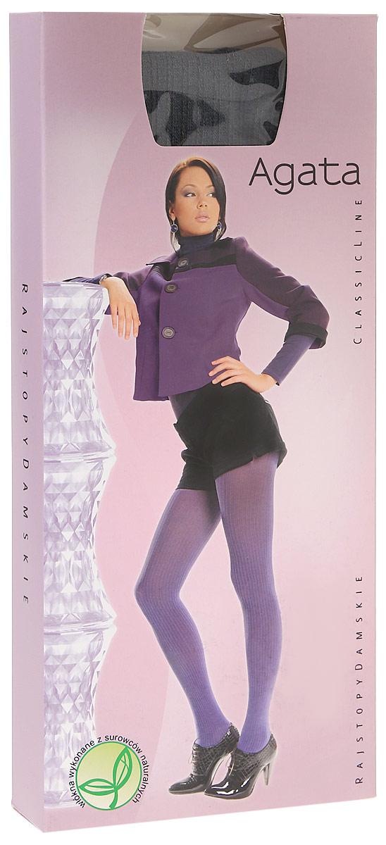 Колготки женские Knittex Agata 120, цвет: графит. AGATA. Размер 4AGATAНепрозрачные колготки Agata от Knittex, изготовленные из вискозы, плотностью 120 den с продольным рисунком в рубчик по всей длине ноги. Без шортиков. Плоские швы. Хлопковая ластовица. Классическая высота талии. Широкая комфортная резинка.В размере 5-XL специальная вставка (2 шва). Без пятки.