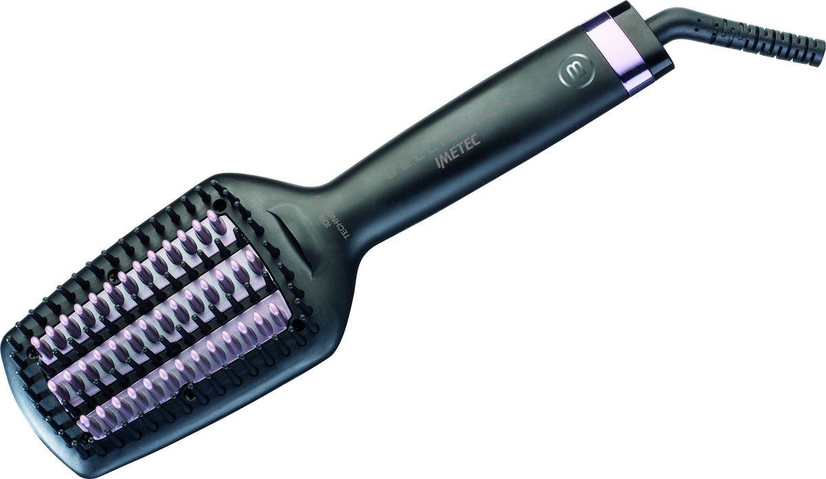 Imetec Bellissima 11508 термощетка-выпрямитель для волос11508Термощетка-выпрямитель Imetec Bellissima 11508 - это устройство 2 в 1, которое совмещает в себе функции термощетки и утюжка для волос, что позволит создать идеальную прическу и высушить волосы за считанные минуты. Imetec Bellissima 11508 мгновенно нагревается до температуры 200°C. Для более комфортного использования прибор имеет достаточно простую систему управления и длинный поворотный шнур.