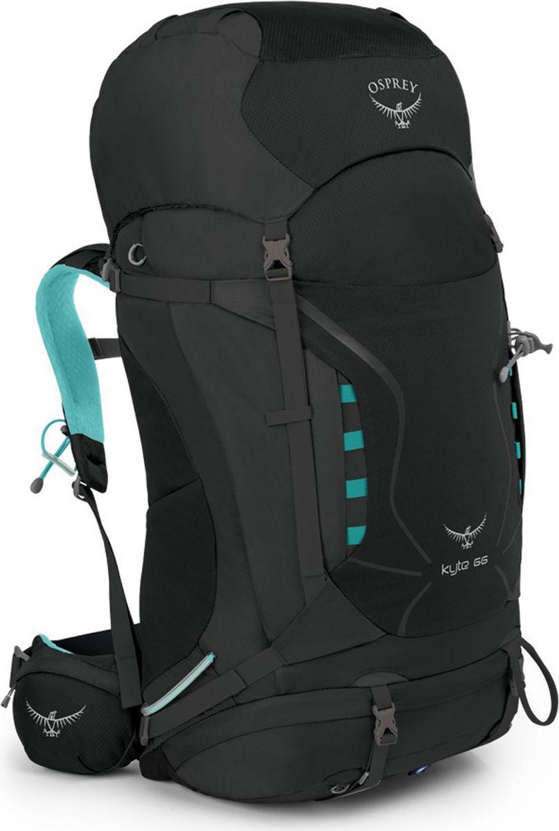 Рюкзак Osprey Kyte 66 WS/WM, цвет: серый, 66 л1033858Универсальные всесезонные рюкзаки серии Kyte разработаны с учетом анатомических особенностей женской фигуры. Cпециальная накидка от дождя защитит рюкзак и вещи от промокания. Хорошо вентилируемая регулируемая спина AirSpeed позволяет сбалансировать центр тяжести и создать максимальный комфорт. В жарких условиях особенно важно поддерживать водный баланс, - специальный карман для трубки питьевой системы позволяет легко пополнить резервуар при необходимости. Лямки и поясной ремень с подкладкой из сетки обеспечивают плотную посадку и особый комфорт. Для путешествий с ночевкой предусмотрены съемные ремни для коврика и отсек для спального мешка в основном отделении с внутренней перегородкой. В двух боковых карманах, карманах на молнии на поясном ремне и карманах в клапане можно разместить остальное снаряжение. С помощью уникальной системы крепления Stow-on-the-Go с двумя эластичными петлями можно легко и просто зафиксировать или снять трекинговые палки, не снимая рюкзак со спины. 2 петли для ледоруба особенно актуальны в зимних условиях. В эластичном кармане на фасаде рюкзака можно отдельно от других вещей разместить мокрую куртку. Боковые стяжки позволяют уменьшить объем рюкзака, сделав его наиболее компактным. Максимальный размер: 76 x 35 x 37 см. Вес: 1,74 кг.Что взять с собой в поход?. Статья OZON Гид