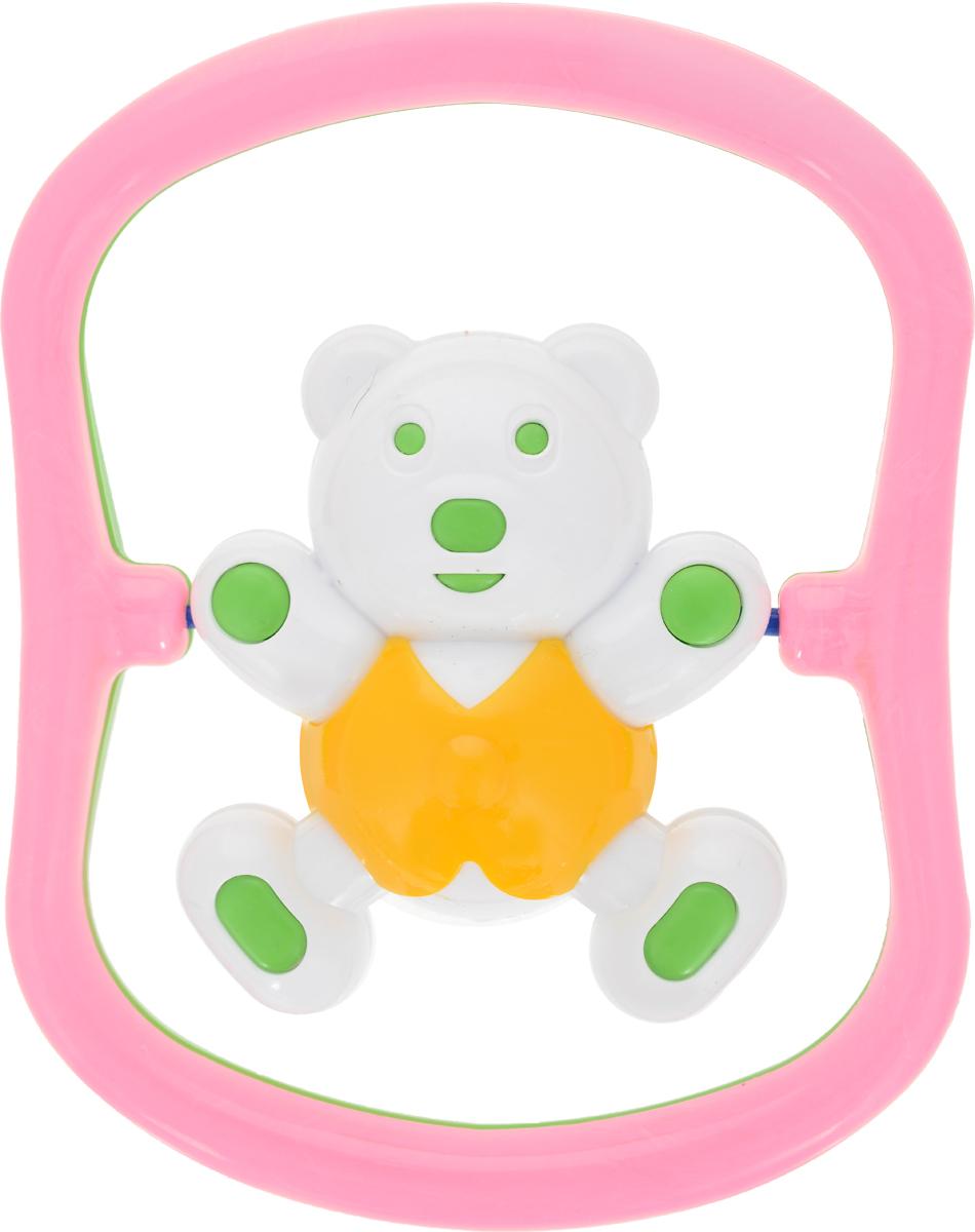 Аэлита Погремушка Мишка-баюн цвет розовый зеленый желтый