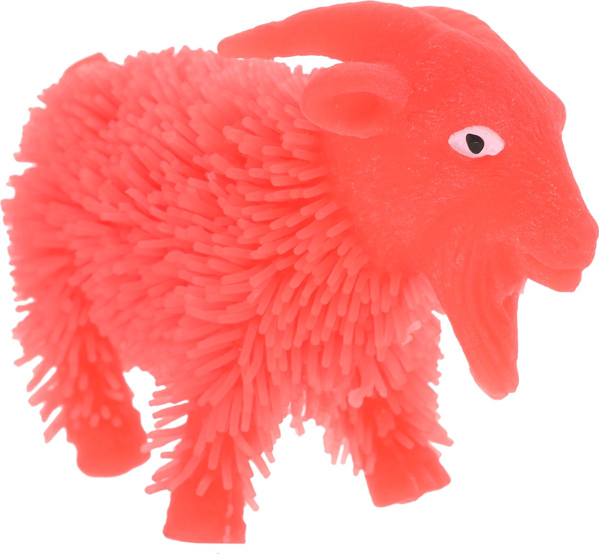 1TOY Антистрессовая игрушка Нью-Ёжики Козел цвет коралловый
