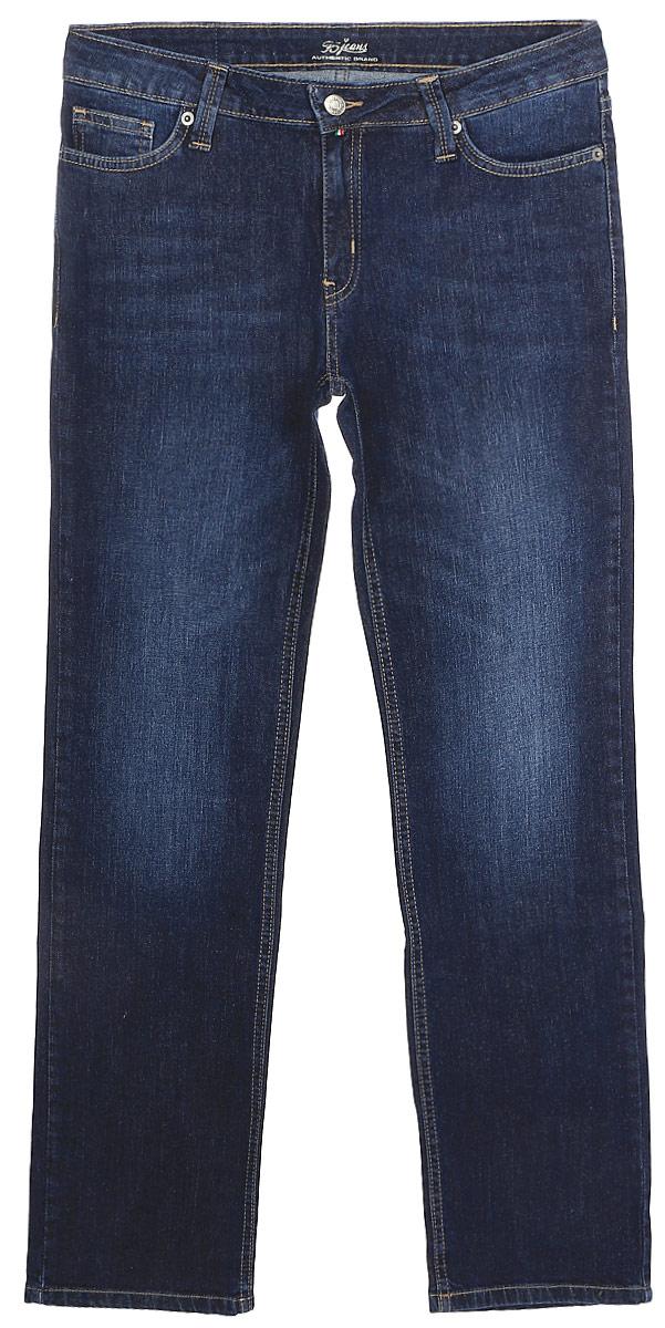 Джинсы женские F5, цвет: синий. 275002_w.dark. Размер 32-34 (48-34)275002_w.darkСтильные женские джинсы F5 выполнены из хлопка с добавлением эластана. Джинсы застегиваются на металлическую пуговицу в поясе и ширинку на застежке-молнии, имеются шлевки для ремня. Изделие дополнено спереди двумя втачными карманами и одним маленьким накладным кармашком, а сзади - двумя накладными карманами. Оформлена модель контрастной прострочкой и сзади на поясе фирменной нашивкой.