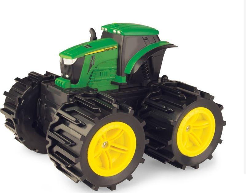 Tomy John Deere Трактор на радиоуправлении Mega Monster Wheels с подсветкой и звуком tomy трактор massey ferguson 6613
