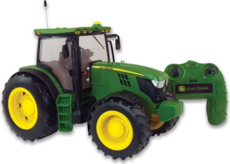Tomy John Deere Трактор на радиоуправлении 6190R с подсветкой и звуком игровые наборы tomy игровой набор приключения трактора джонни и лошади на ферме