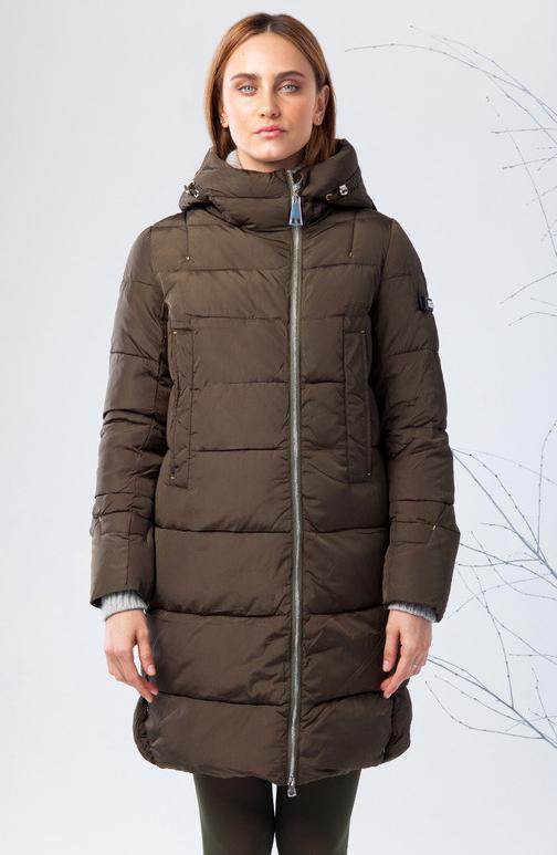 Куртка женская Clasna, цвет: оливковый. CW17D-033CW. Размер L (46)