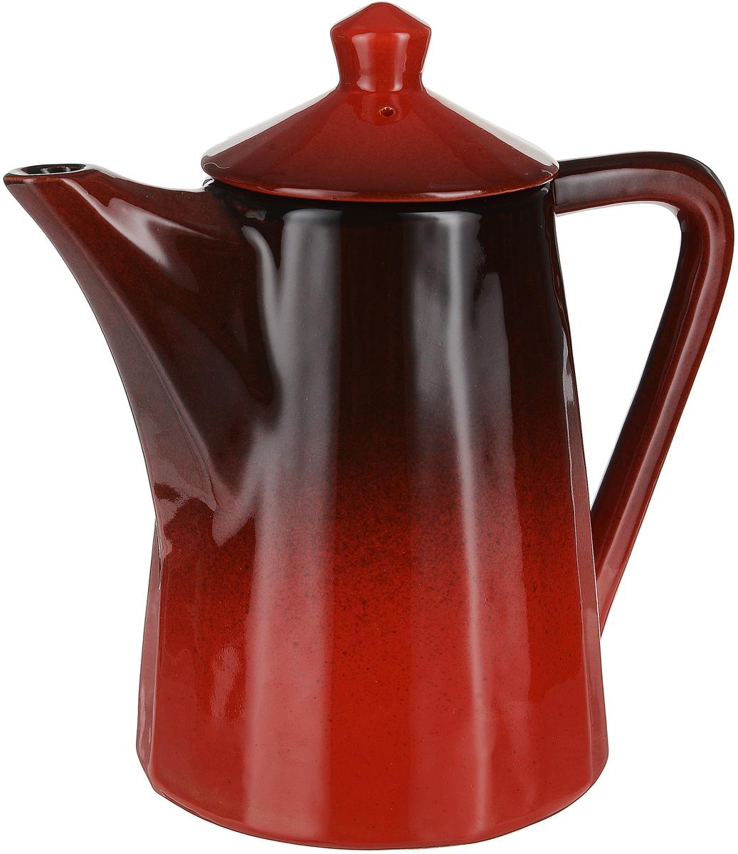 """Чайник заварочный Борисовская керамика """"Ностальгия"""" выполнен из высококачественной керамики. Чайник вытянутой формы с коротким носиком и практичной ручкой. Крышка дополнена удобным держателем. Внутри заварочного чайника находится сотейник, изготовленный также из керамики. Изделие выполнено в двух цветах в технике """"градиент""""."""