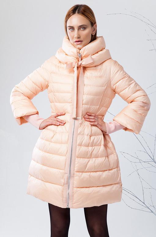 Пуховик женский Clasna, цвет: розовый. CW17D-135CW. Размер S (42) зимний пуховик