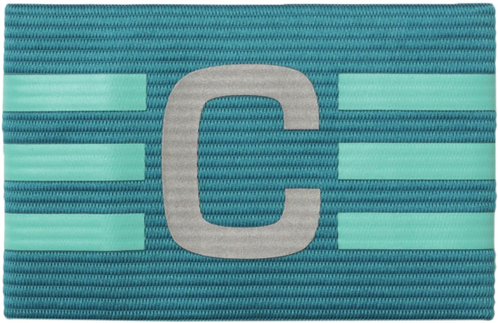 Повязка капитанская Adidas FB Capt Armband, цвет: бирюзовый. AO2539 капитанская повязка mitre a4029arf8