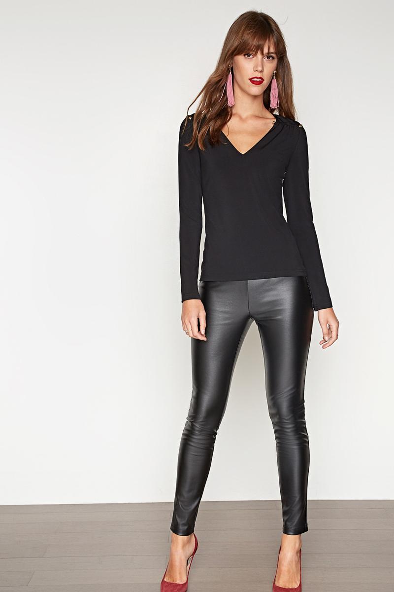 Блузка женская Concept Club Rudge, цвет: черный. 10200260207_100. Размер M (46) платье женское concept club basy цвет черный 10200200341 размер m 46