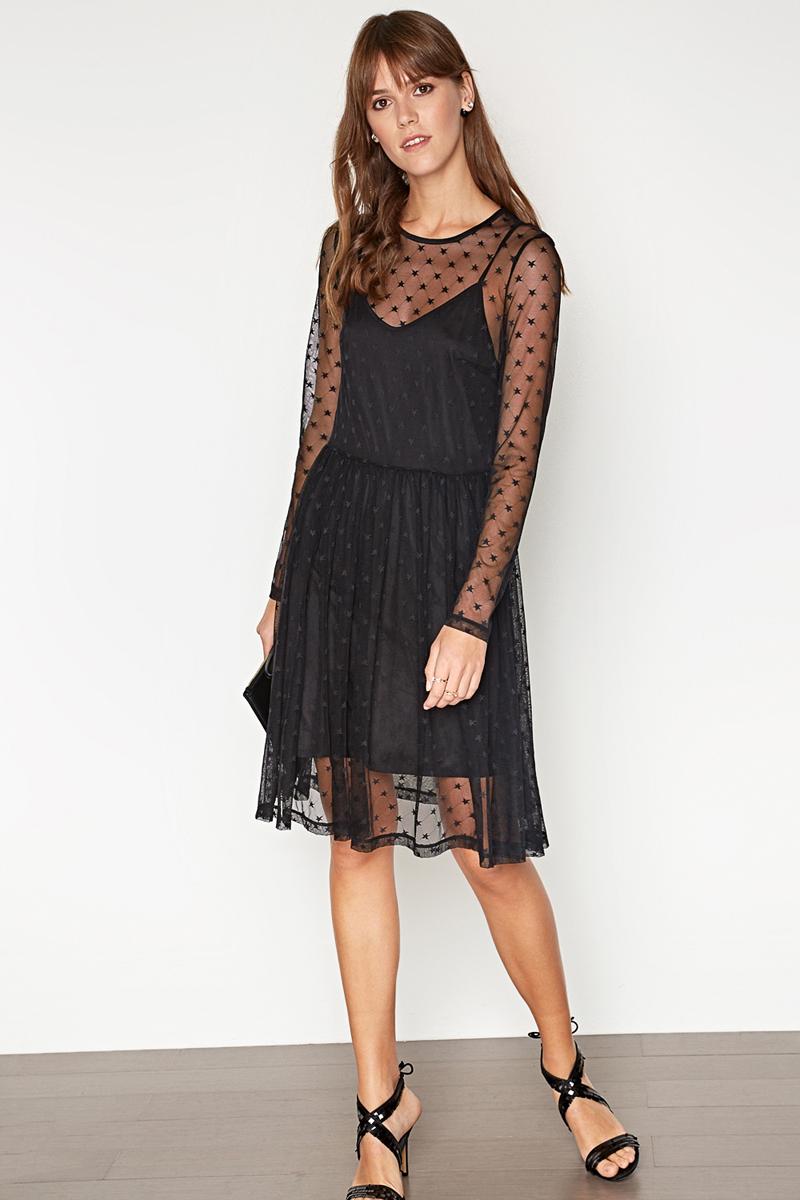 Платье Concept Club Korn, цвет: черный. 10200200404_100. Размер M (46) платье женское concept club basy цвет черный 10200200341 размер m 46