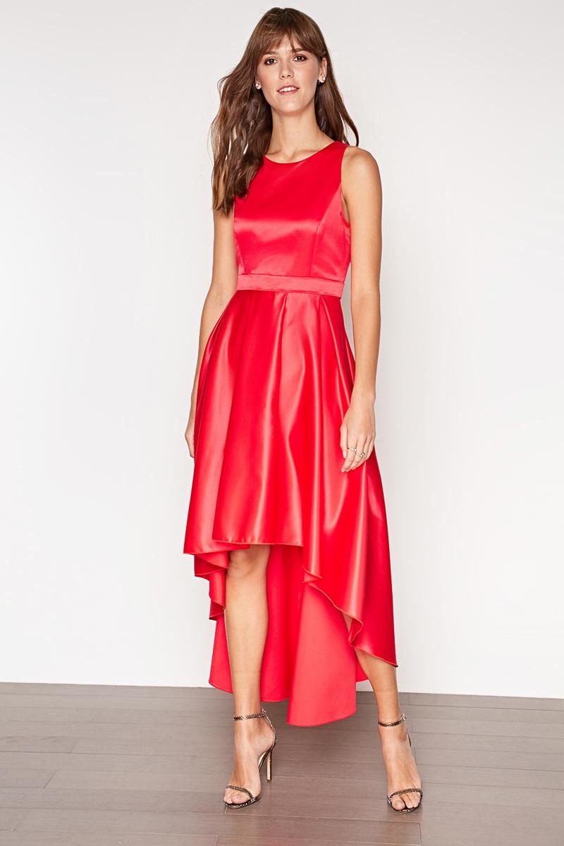 Платье Concept Club Win, цвет: красный. 10200200398_1500. Размер XS (42)10200200398_1500Платье Concept Club выполнено из полиэстера. Модель с круглым вырезом горловины сзади застегивается на застежку-молнию.