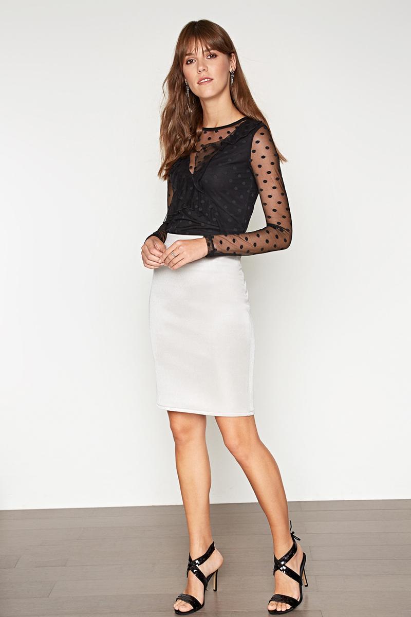 Блузка женская Concept Club Vinyl, цвет: черный. 10200100169_100. Размер M (46) платье женское concept club basy цвет черный 10200200341 размер m 46