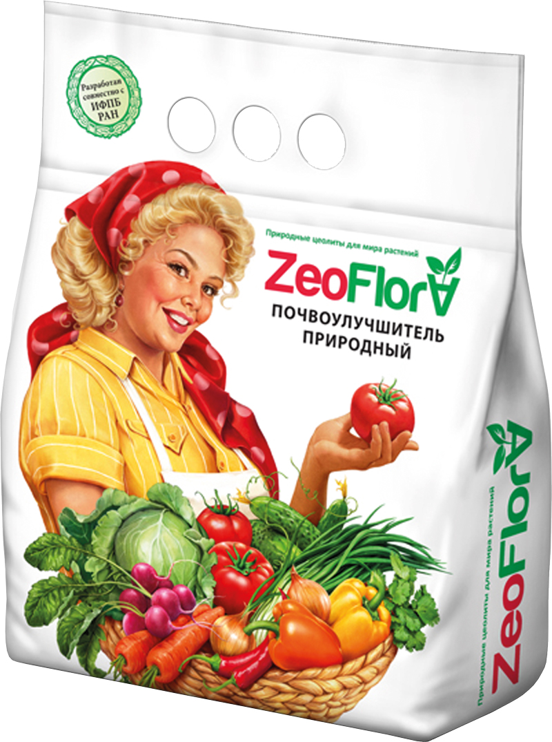 Почвоулучшитель универсальный ZeoFlora, для всех видов растений, 5 л4660013880165ZeoFlora (ЦеоФлора) – природный почвоулучшитель (мелиорант), полиминеральный кремнийсодержащий комплекс. Не является агрохимикатом.ЦеоФлора - стимулятор роста растений, корнеобразователь, источник кремния и необходимых растению микро - и макроэлементов (калий, кальций, магний, бор, цинк, марганец, молибден и др.) в доступных растению формах.В ЦеоФлоре содержится достаточное для растений количество цинка, меди, бора и некоторое количество азота и фосфора. Благодаря высокому содержанию в ЦеоФлоре природного цеолита, водорастворимого кремния, микро- и макроэлементов, необходимых растению, достигается существенное улучшение характеристик почвы и выращиваемых на ней растений.НАЗНАЧЕНИЕ:• Повышение плодородия и экологической безопасности почвы. Очистка почвы от загрязнений тяжёлыми металлами и избыточного содержания нитратов. • Снабжение сельскохозяйственных культур необходимыми им кремнием, калием и другими микро- и макроэлементами в доступной для растений форме. • Удержание питательных веществ в почве. Уменьшение вымывания удобрений из грунта. Увеличение продолжительности действия удобрений (пролонгированный эффект) и сокращение их количества при внесении.• Улучшение усвоения растениями питательных веществ (азот, фосфор, калий) из почвы. • Снижение кислотности почв и улучшение её структуры. Подавление развития патогенной микрофлоры в почвосмеси.• Регуляция влагоёмкости почвы. Сохранение и удержание воды в течение длительного времени, постепенное и постоянное снабжение растений водой по мере необходимости. ЭФФЕКТЫ:• Повышение урожайности плодовых и ягодных культур на 20-30%. Улучшение вкусовых качеств плодов, сахаристости ягод и фруктов. Увеличение сроков хранения (лёжкости) плодоовощной продукции. • Получение экологически безопасной сельскохозяйственной продукции (с минимальным содержанием нитратов и тяжёлых металлов), как в открытом грунте, так и в теплицах.• Увеличение выживаемости и усто