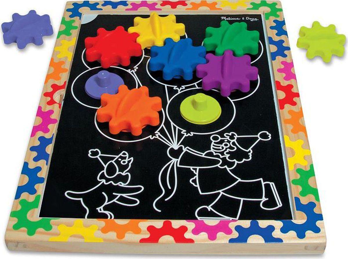 Melissa & Doug Обучающая игра Разноцветные колесики melissa & doug обучающая игра барабан сортировщик