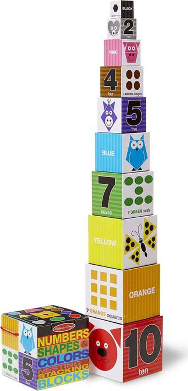 Melissa & Doug Обучающая игра Цифры формы и цвета блоки настольная игра доббль цифры и формы