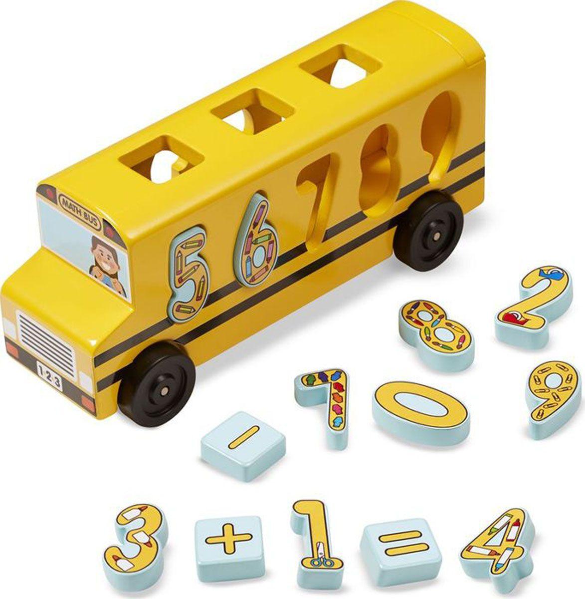 Melissa & Doug Обучающая игра Деревянный автобус сортировщик-цифры билет на автобус пенза белинский