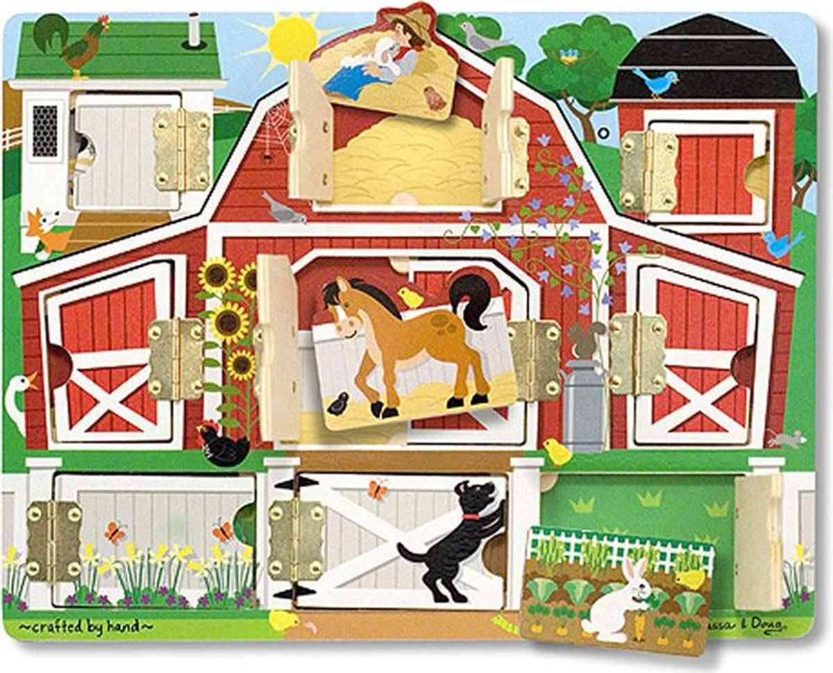 Melissa & Doug Обучающая игра Доска с окошками Ферма