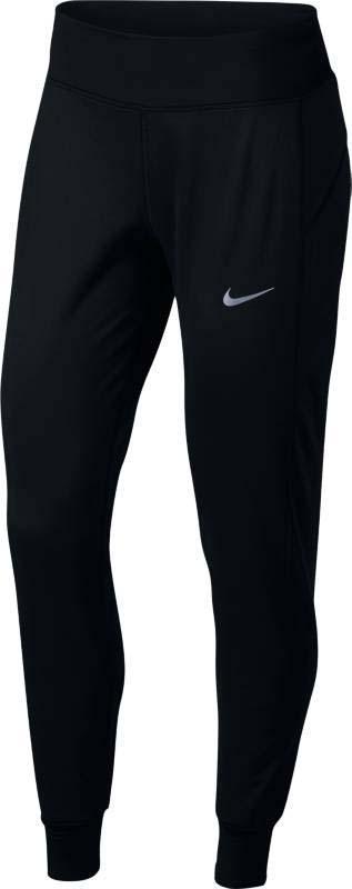 Брюки утепленные для бега женские Nike Nk Thrma Pant, цвет: черный. 856153-010. Размер L (48/50)856153-010Женские беговые тайтсы Nike обеспечивают защиту и надежную фиксацию. Поддерживающая ткань и регулируемый пояс обеспечивают комфортную поддержку на любой дистанции. Эластичная ткань Nike Power обеспечивает поддержку. Карман на молнии по центру сзади создан для надежного хранения мелочей. Широкий эластичный пояс со шнурком для индивидуальной регулировки посадки. Светоотражающая графика обеспечивает безопасность в темное время суток. Плотный крой не создает помех при движении. Сетка под коленями и по бокам улучшают вентиляцию.