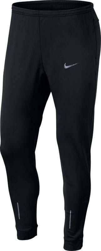 Брюки утепленные для бега мужские Nike Nk Thrma Essntl Pant, цвет: черный. 858138-010. Размер L (50/52)858138-010Мужские беговые брюки Nike Thermal Essential из мягкой влагоотводящей ткани защищают от холода и не сковывают движений благодаря свободной посадке. Ткань Nike Therma сохраняет тепло. Модель удобно снимать и надевать благодаря молниям на отворотах штанин. Эластичный пояс с внутренним шнурком для индивидуальной посадки. Передние карманы на молнии созданы для защиты рук от холода и надежного хранения мелочей. Стандартный крой облегает тело и дарит комфорт. Светоотражающие детали обеспечивают безопасность в темное время суток. Задний карман на молнии по центру позволяет надежно хранить важные мелочи.