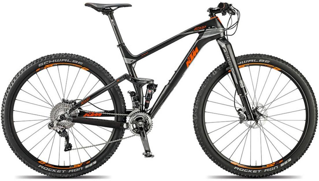 Велосипед горный KTM Scarp 29 Prestige 22s Di2 2015, двухподвесный, цвет: черный, рама 17, колесо 29251167