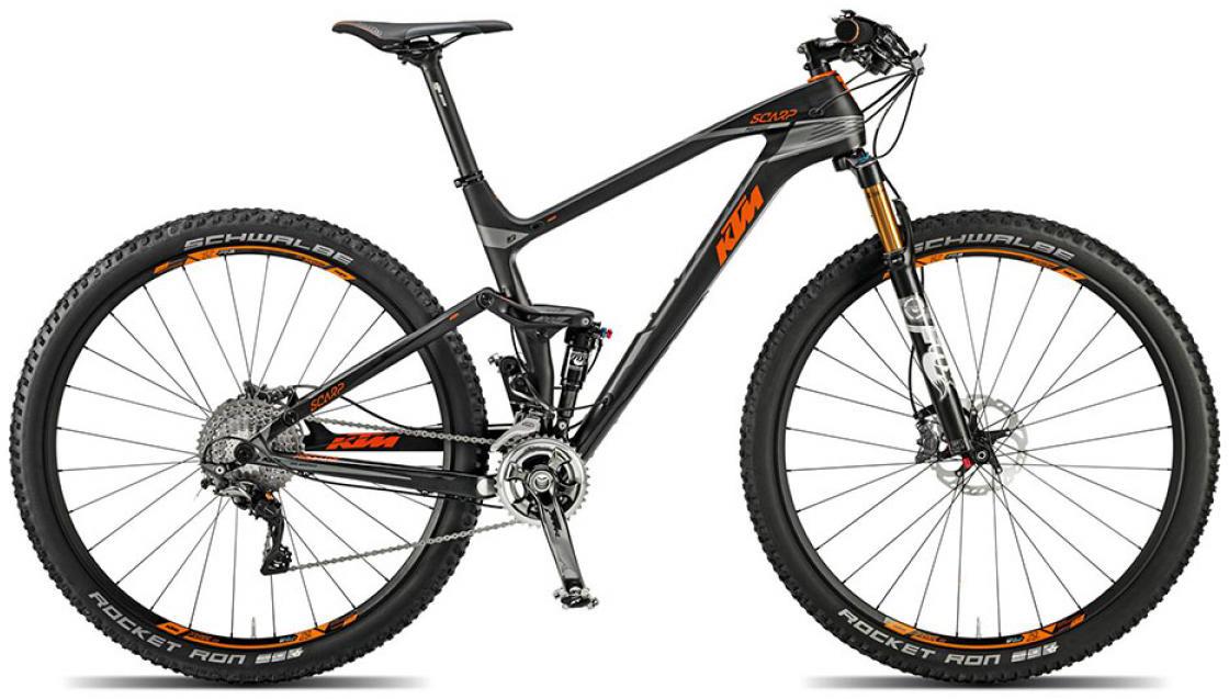 Велосипед горный KTM Scarp 29 Prestige 22s 2015, двухподвесный, цвет: черный, рама 21, колесо 29251175