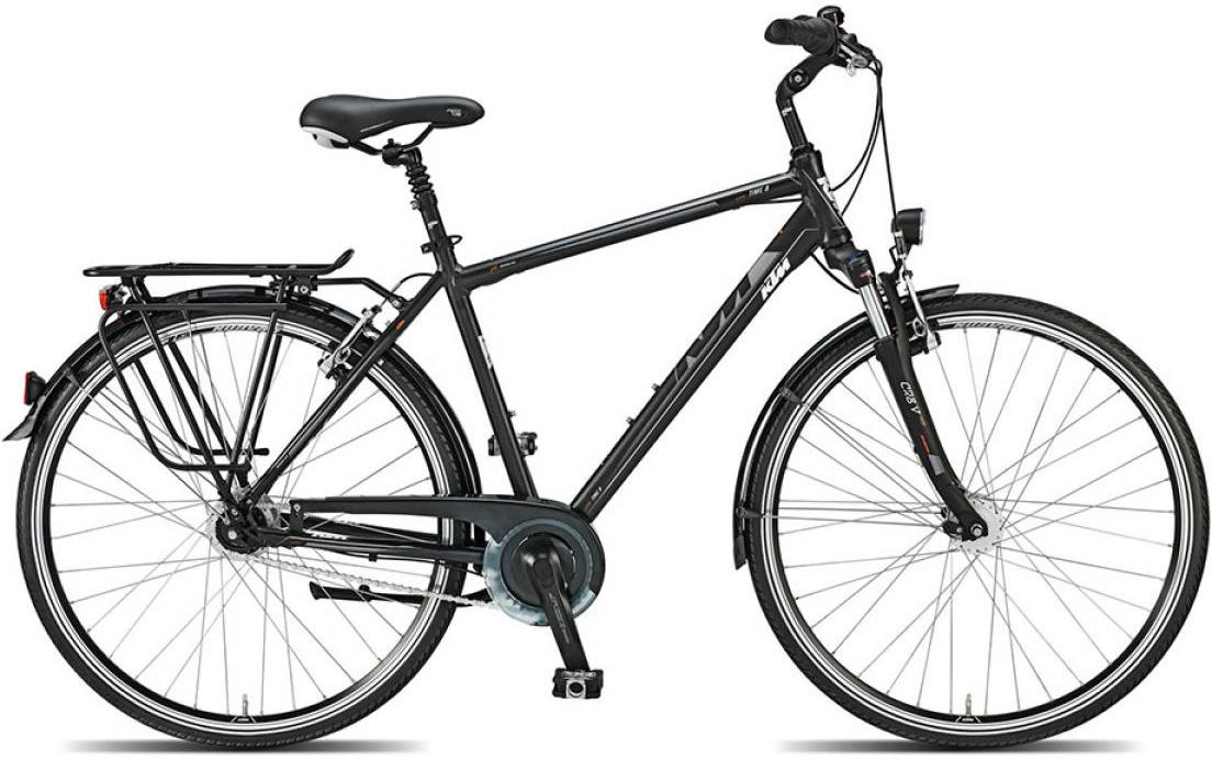 Велосипед городской KTM Llife time 8 ll 2015, цвет: черный, рама 18, колесо 28. 251185251185