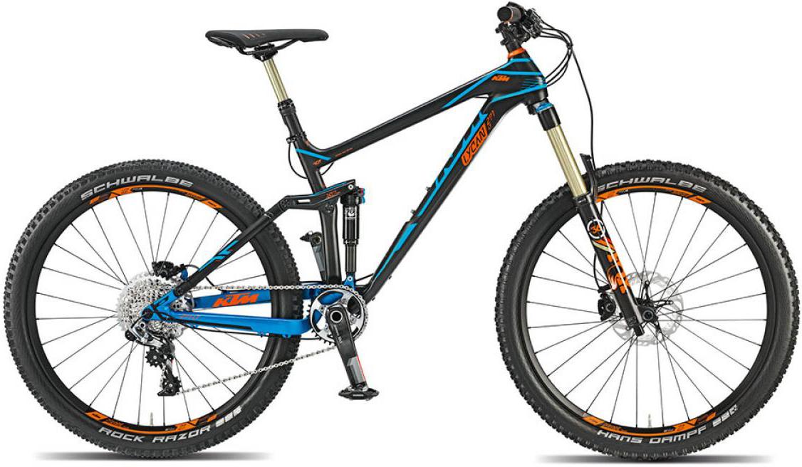 Велосипед горный KTM Lycan LT 271 11s (Longtravel) 2015, двухподвесный, цвет: черный, рама 17, колесо 27,5251188