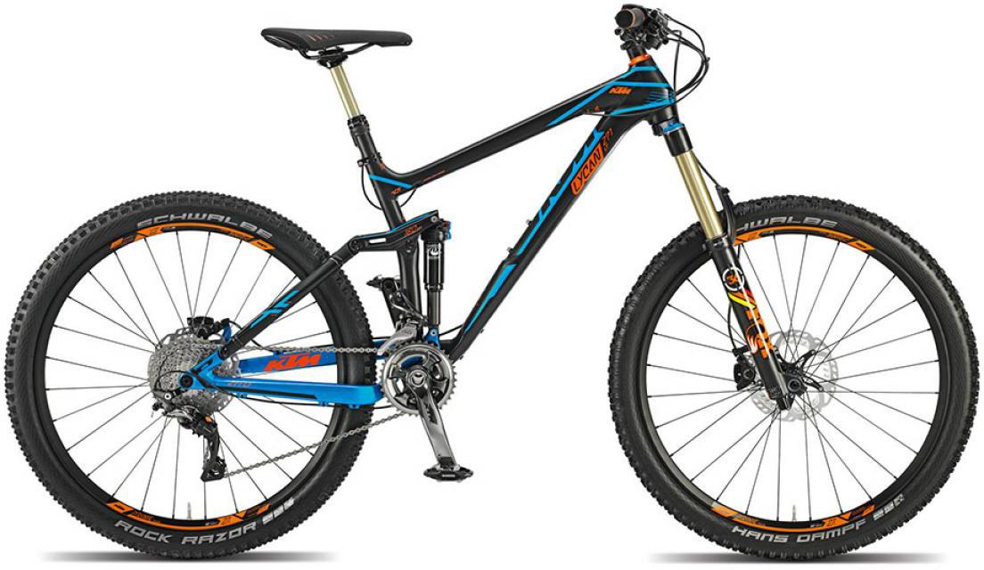 Велосипед горный KTM Lycan LT 271 22s (Longtravel) 2015, двухподвесный, цвет: черный, рама 19, колесо 27,5251193