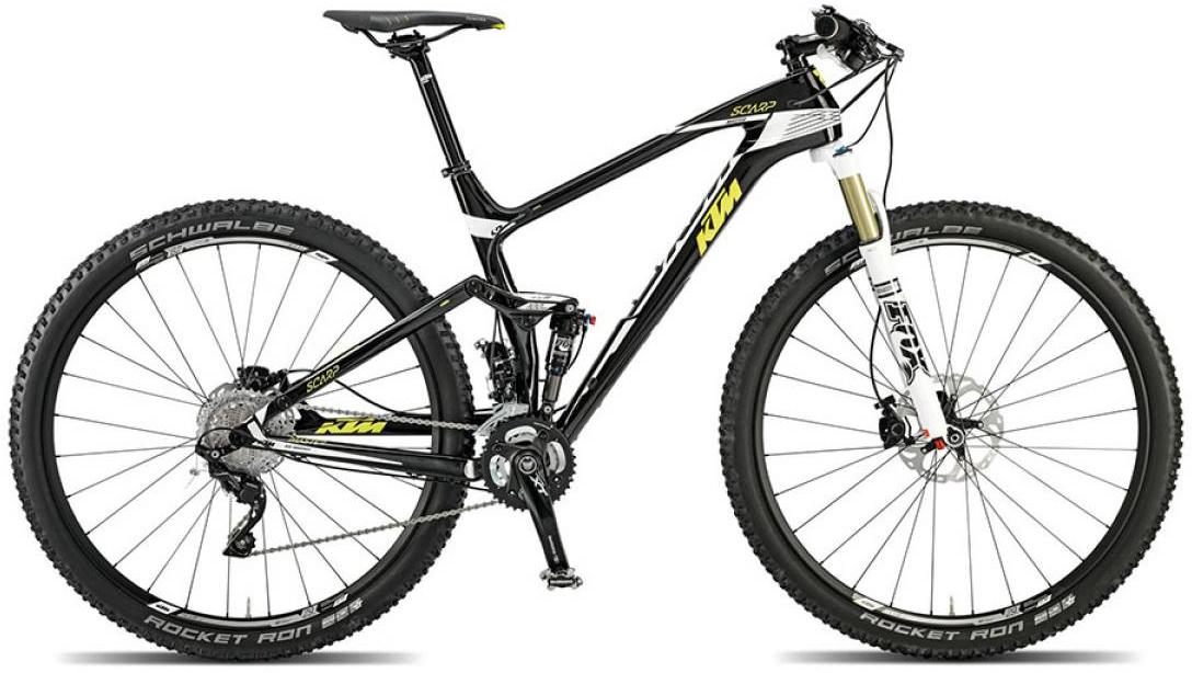 Велосипед горный KTM Scarp 29 Master 2015, двухподвесный, цвет: черный, рама 19, колесо 29251208