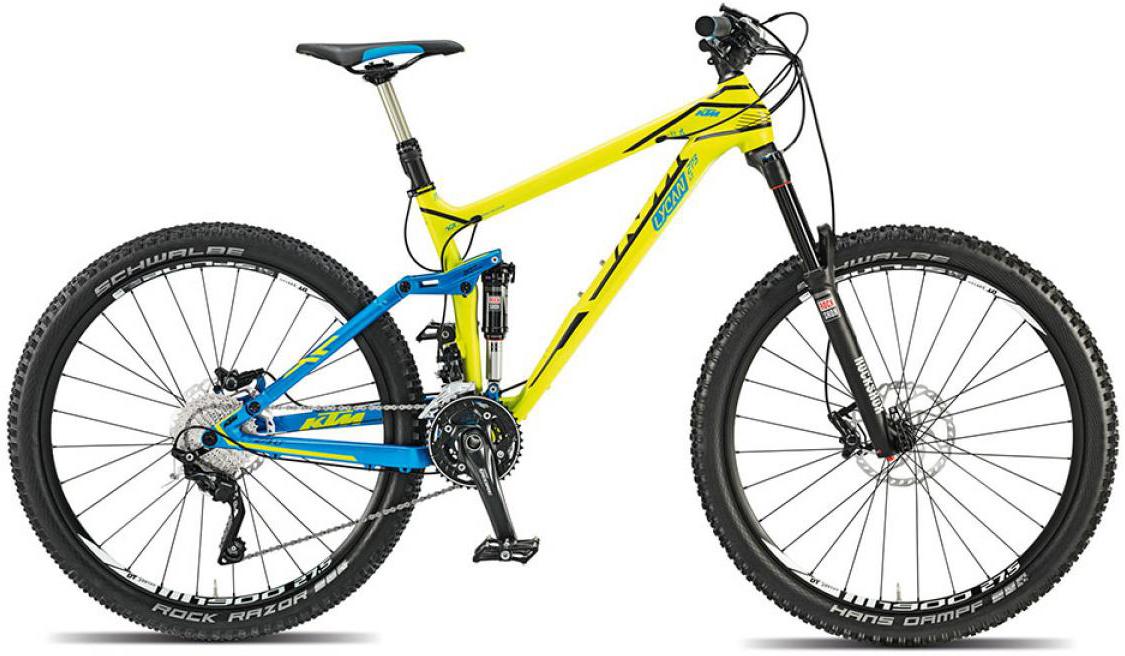 Велосипед горный KTM Lycan LT 273 (Longtravel) 2015, двухподвесный, цвет: желтый, рама 21, колесо 27,5251212