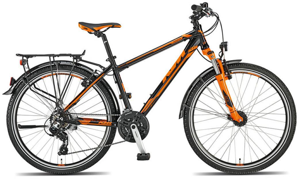 Велосипед городской KTM Country sport 26 2015, цвет: черный, рама 14,5, колесо 26251223