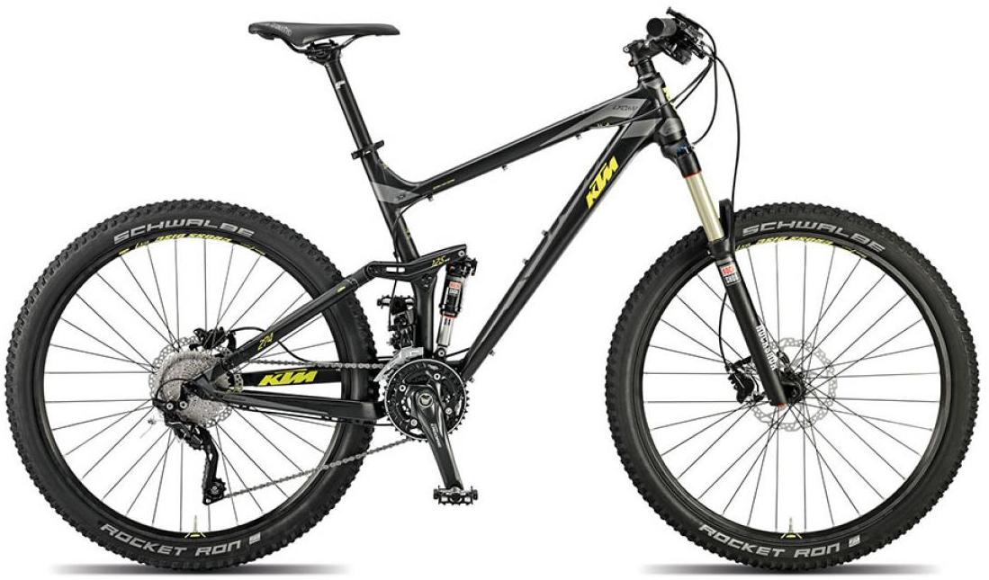 Велосипед горный KTM Lycan 274 2015, двухподвесный, цвет: черный, рама 15, колесо 27,5251241