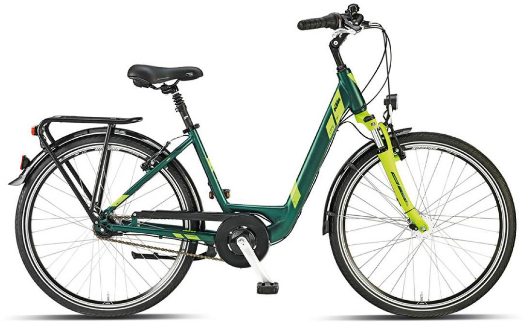 Велосипед женский KTM City Line 7 26 2015, цвет: зеленый, рама 17, колесо 26251256
