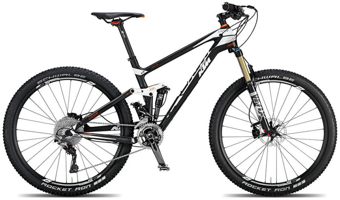 Велосипед горный KTM Lycan 27 Prime 27.5 2015, двухподвесный, цвет: черный, рама 17, колесо 27,5251260