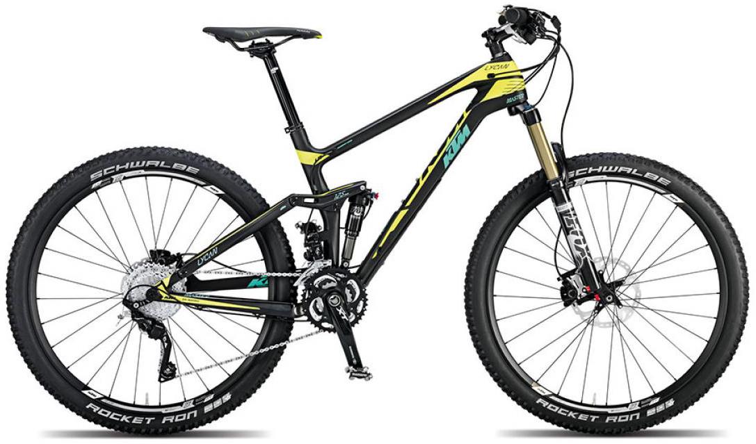Велосипед горный KTM Lycan 27 Master 2015, двухподвесный, цвет: черный, рама 17, колесо 27,5251266