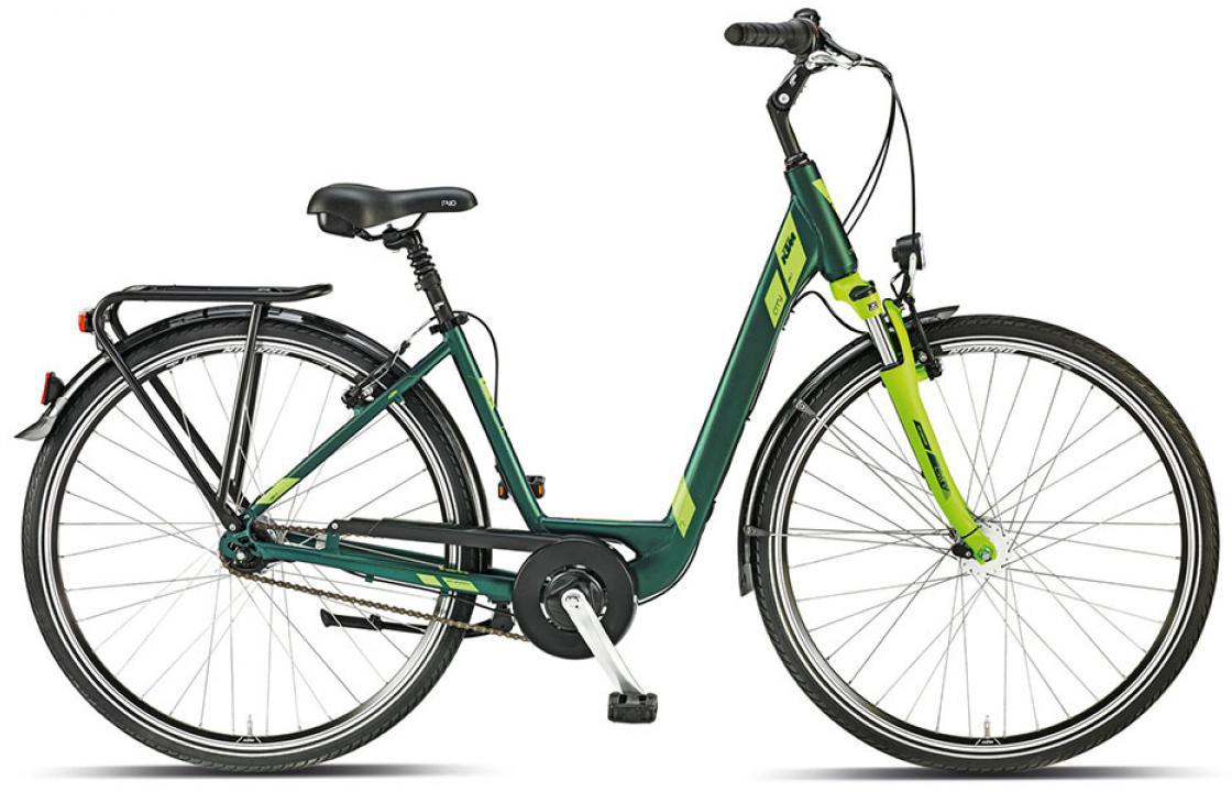 Велосипед женский KTM City Line 7 28 2015, цвет: зеленый, рама 18, колесо 28251267