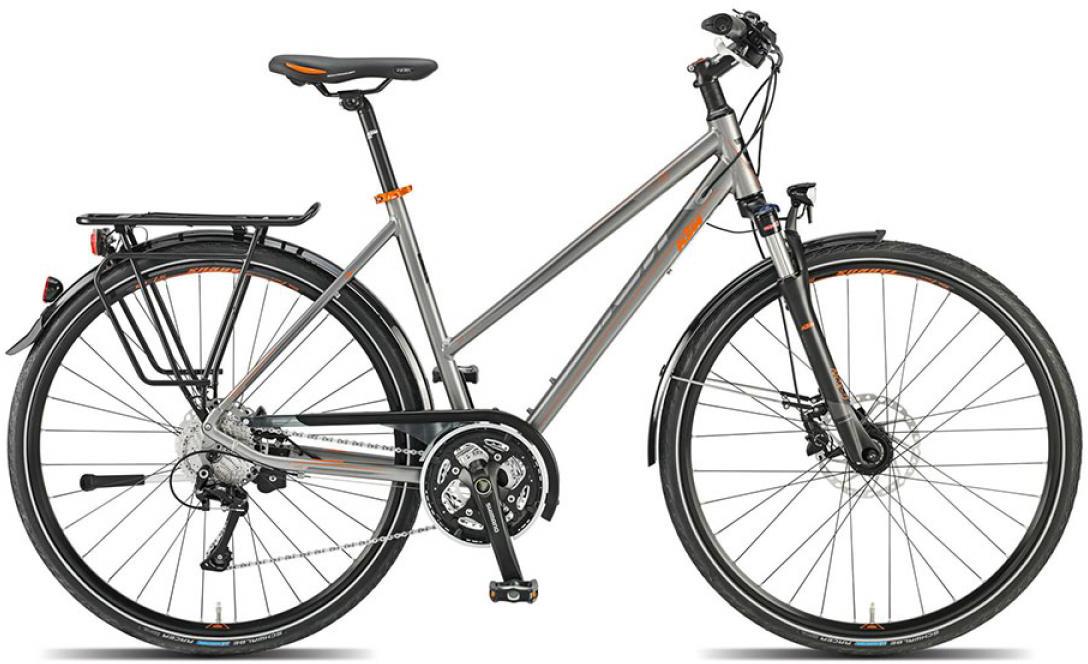 Велосипед женский KTM Life Disc 2015, цвет: серый, рама 22, колесо 28251296