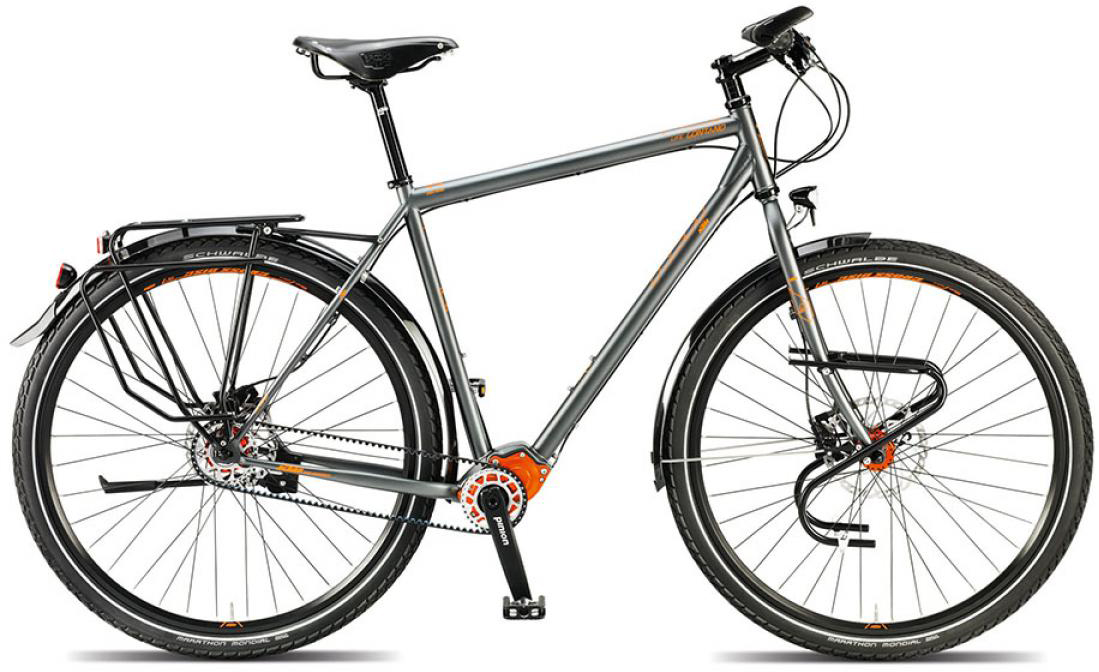 Велосипед городской KTM Llife lontano p1.18 pinion 2015, цвет: серый, рама 20, колесо 28251303