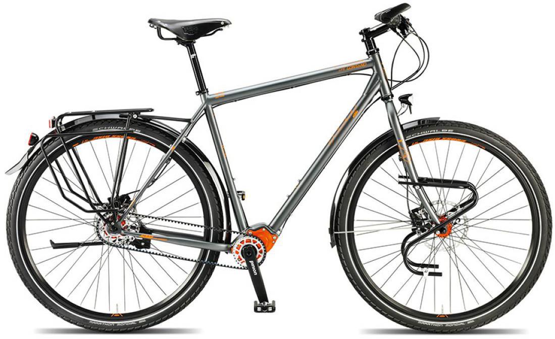 Велосипед городской KTM Llife lontano p1.18 pinion 2015, цвет: серый, рама 23,5, колесо 28251306