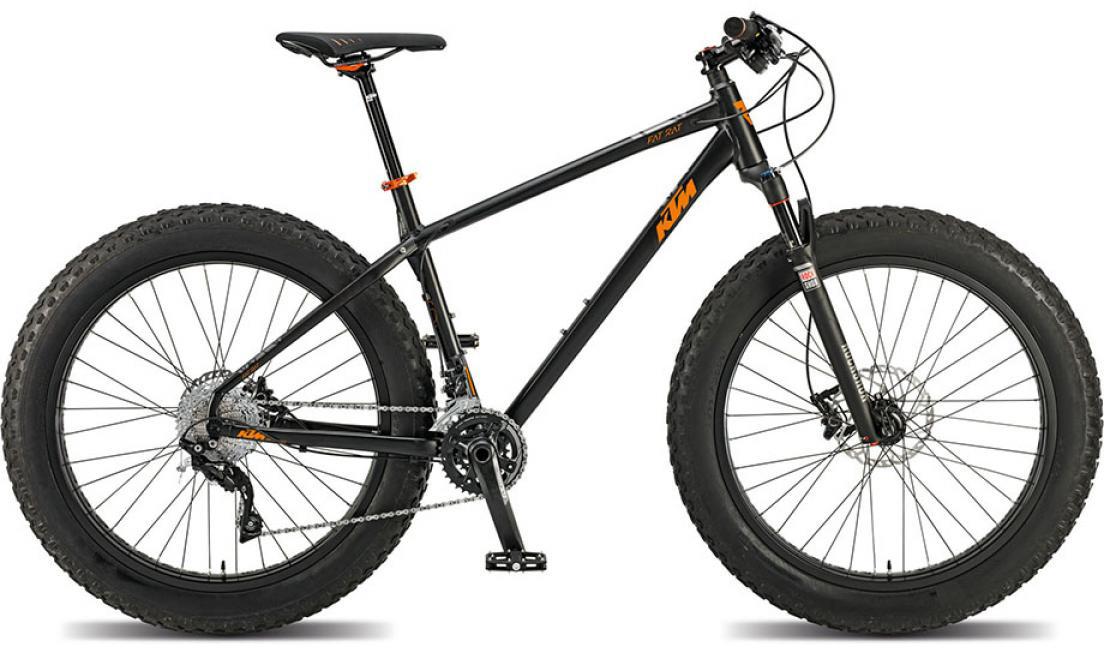 Велосипед горный KTM Fat Rat 2015, цвет: черный, рама 19, колесо 26251322