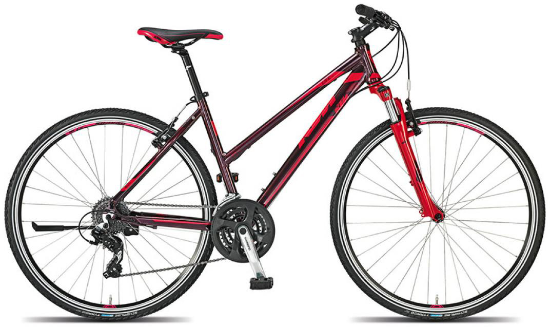 Велосипед женский KTM Life one 2015, цвет: красный, рама 18, колесо 28251381