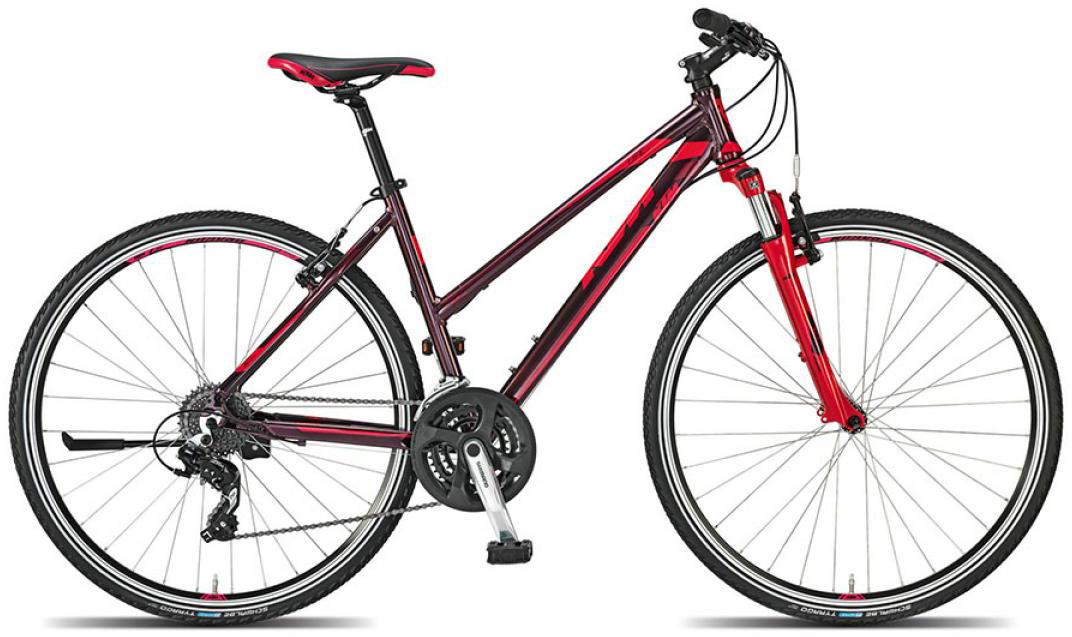 Велосипед женский KTM Life one 2015, цвет: красный, рама 20, колесо 28251382