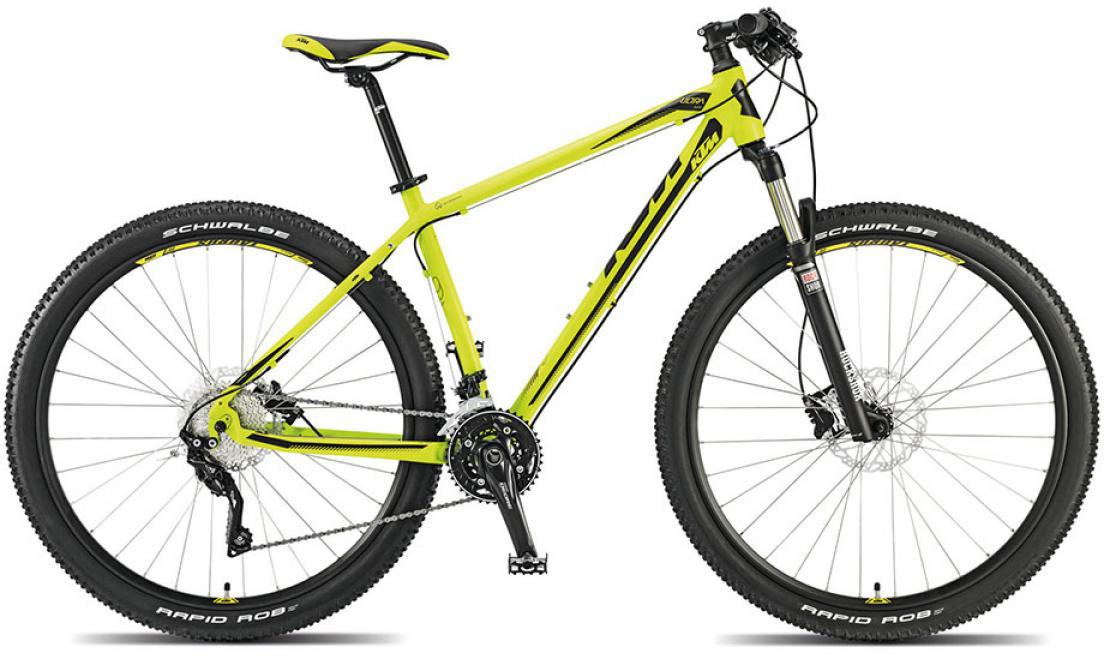 Велосипед горный KTM Ultra Flite 29 2015, цвет: желтый, рама 17, колесо 29251412