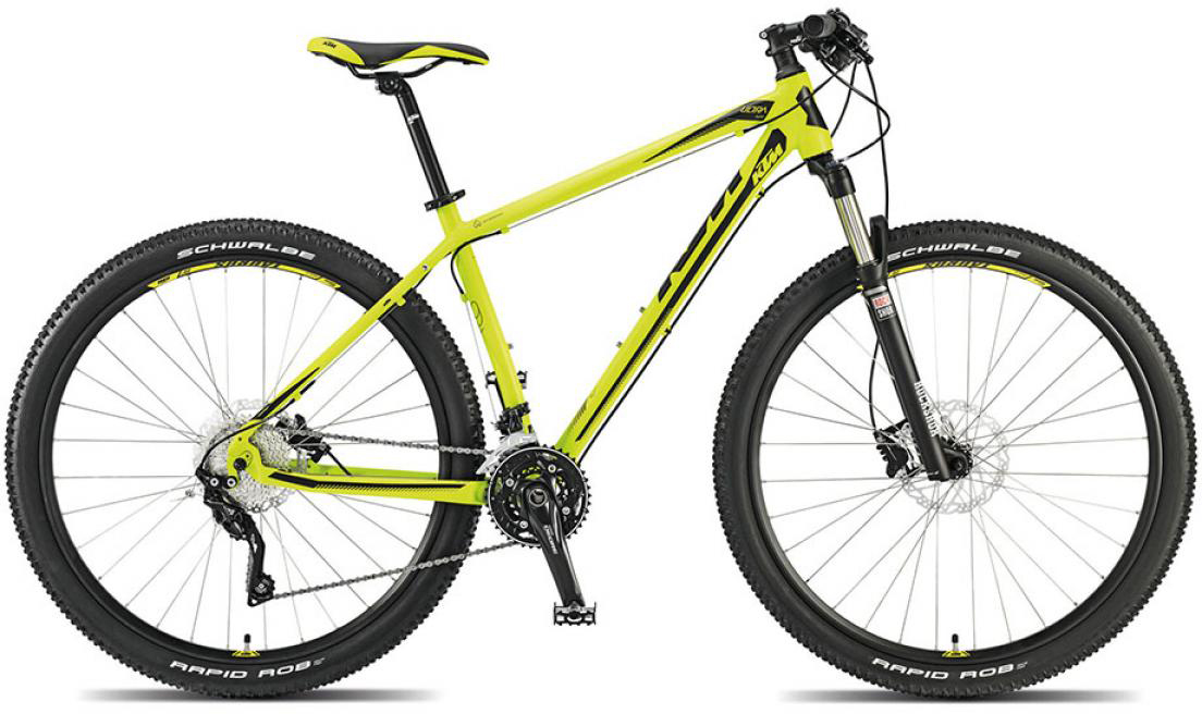 Велосипед горный KTM Ultra Flite 29 2015, цвет: желтый, рама 21, колесо 29251414
