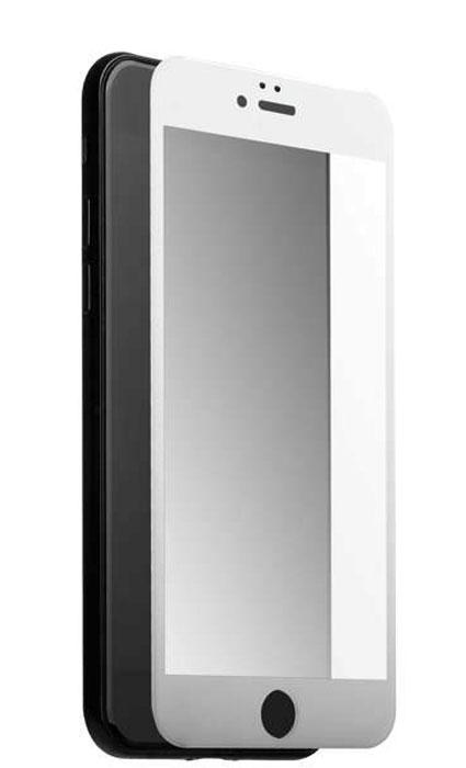 Deppa 3D защитное стекло для Apple iPhone 7 / 8, White62036Прочное защитное стекло из японского закаленного стекла Asahi Deppa 3D защитит экран вашего устройства отцарапин. Обеспечивает более высокий уровень защиты по сравнению с обычной пленкой. При этом яркость ичувствительность дисплея не будут ограничены. Препятствует появлению воздушных пузырей и надежнокрепится на экране устройства.