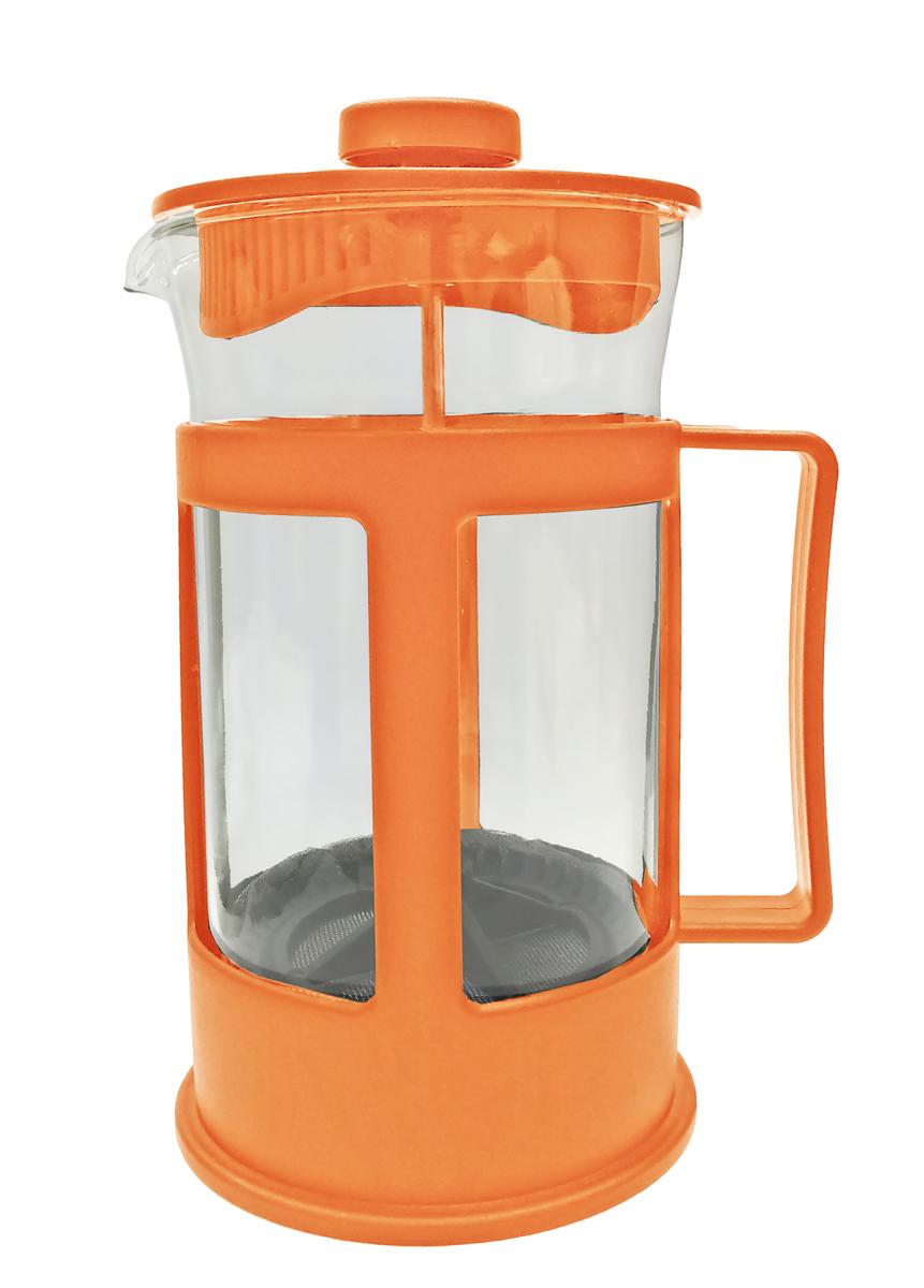 Френч-пресс IRIT, цвет: оранжевый, 600 мл. FR-06-014FR-06-014 оранжевыйФренч-пресс , 0,6 л. Пластиковая крышка, ручка, оправа, фильтр из нержавеющей стали, боросиликатное стекло. Цвет оранжевый